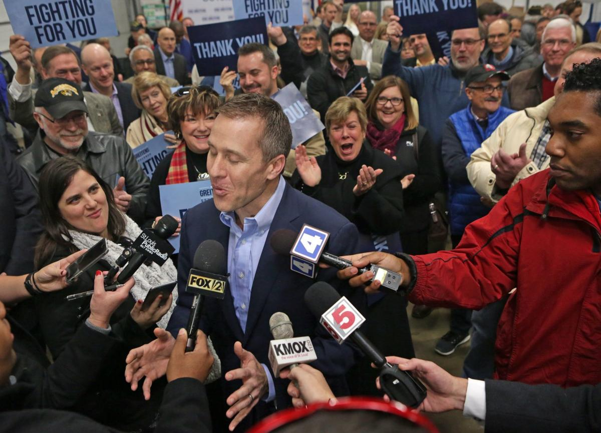 Eric Greitens meets with supporters in Maryland Heights