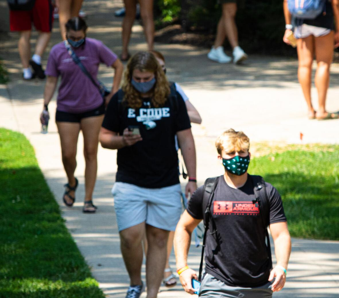 CMU students on their way to class. Photo provided by Central Methodist University