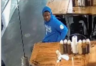 He walked in for a job application and walked out with the tip jar from a BBQ joint in O'Fallon, Ill.
