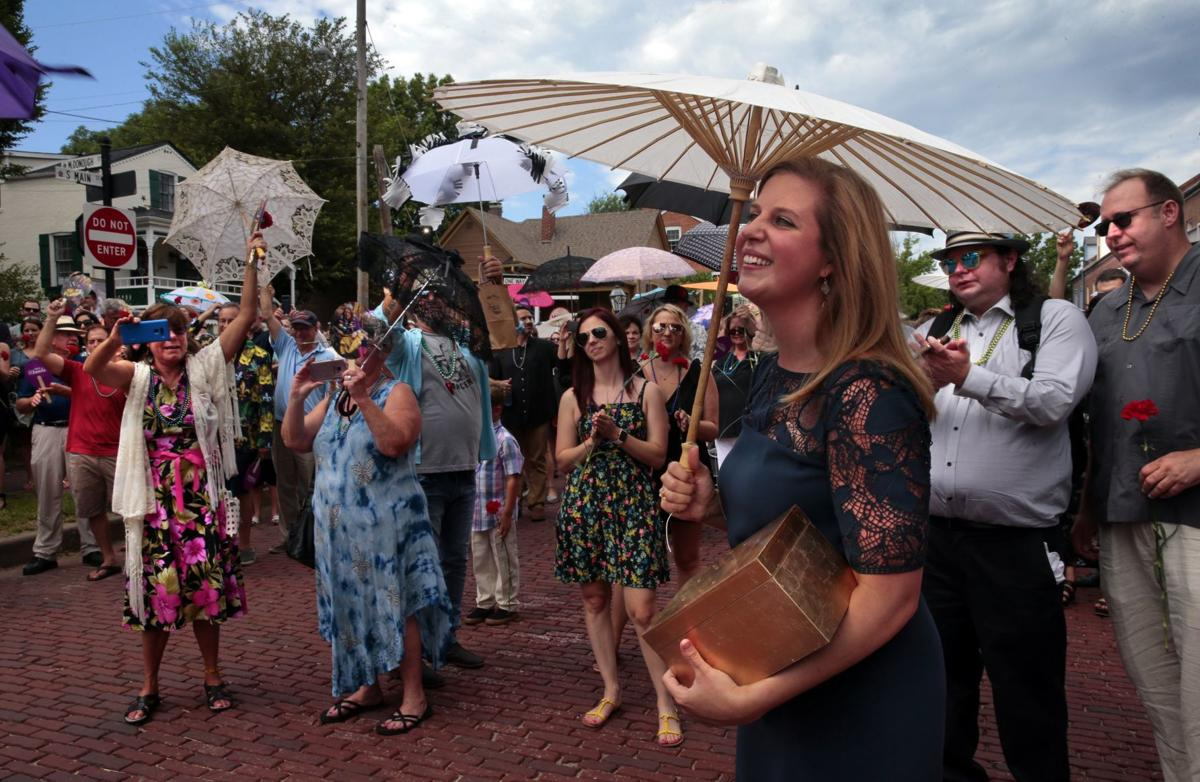 Longtime restaurant owner in Historic St. Charles remembered with second line parade