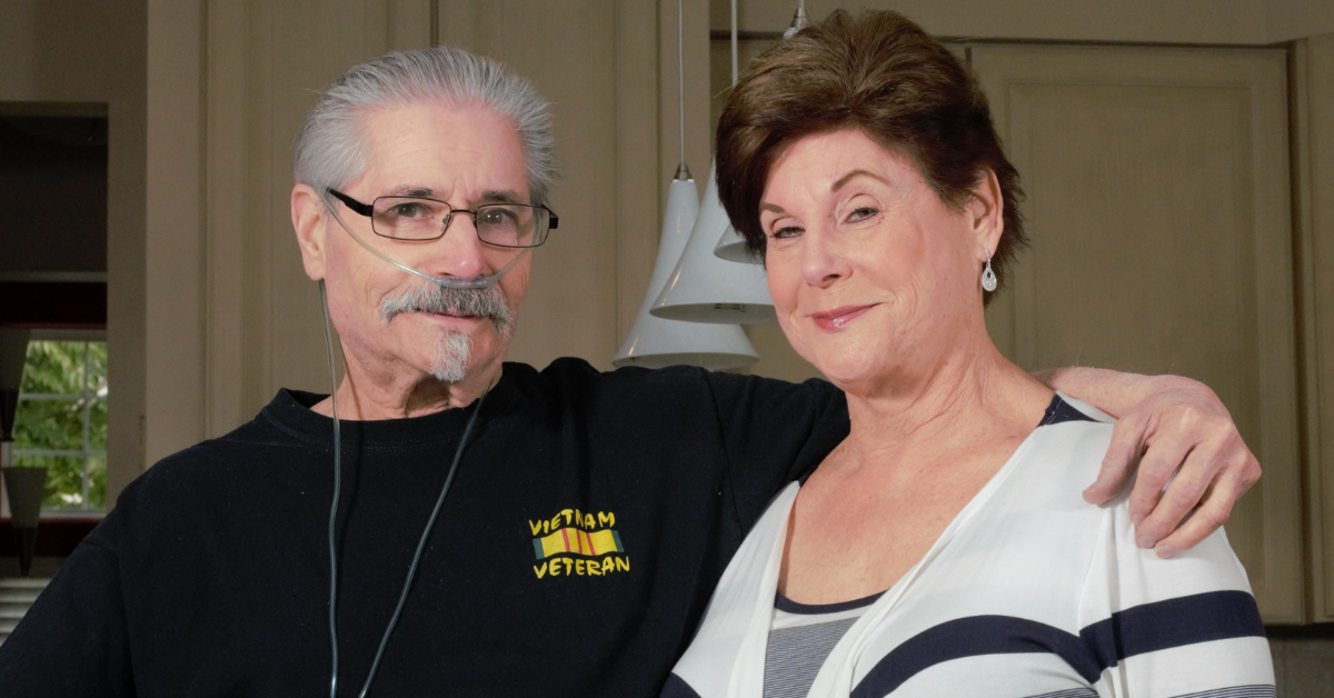 Bonnie Laiderman, CEO of Veterans Home Care, with brother Michael Kaltman, a Vietnam Veteran