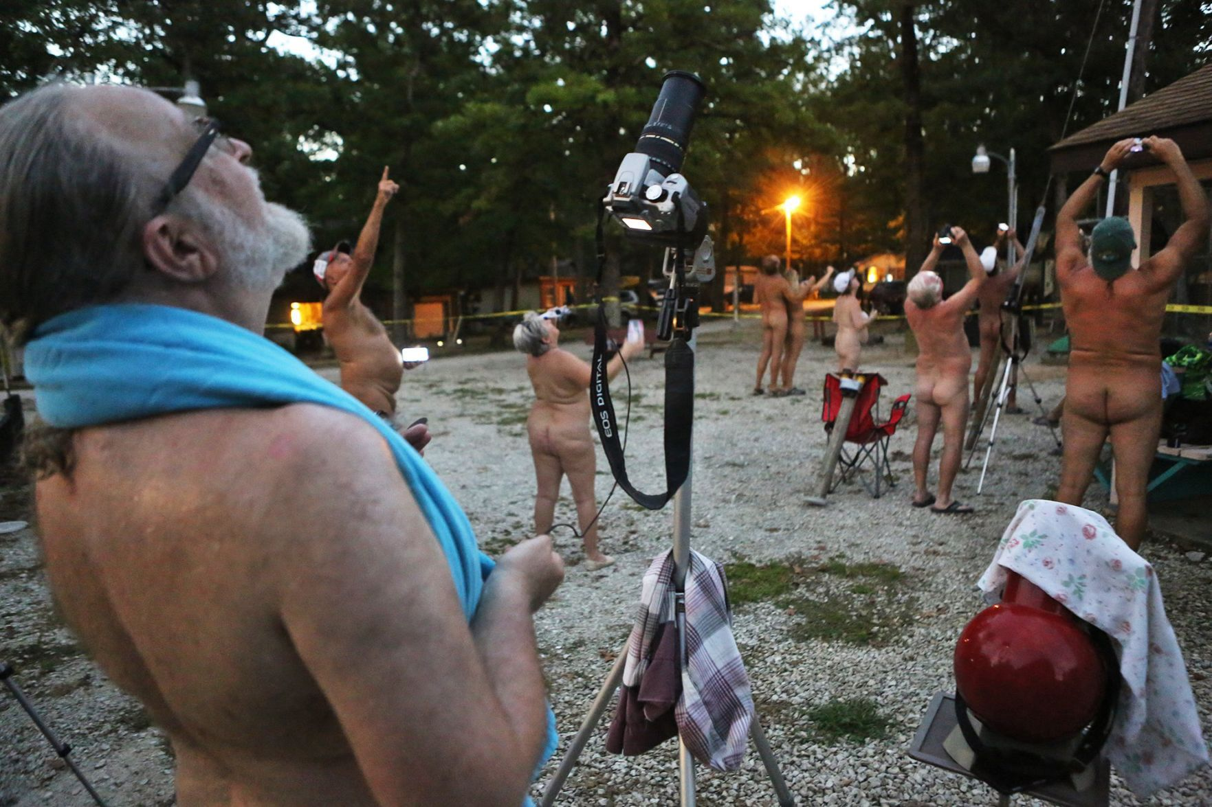 Nudist colony just for old people