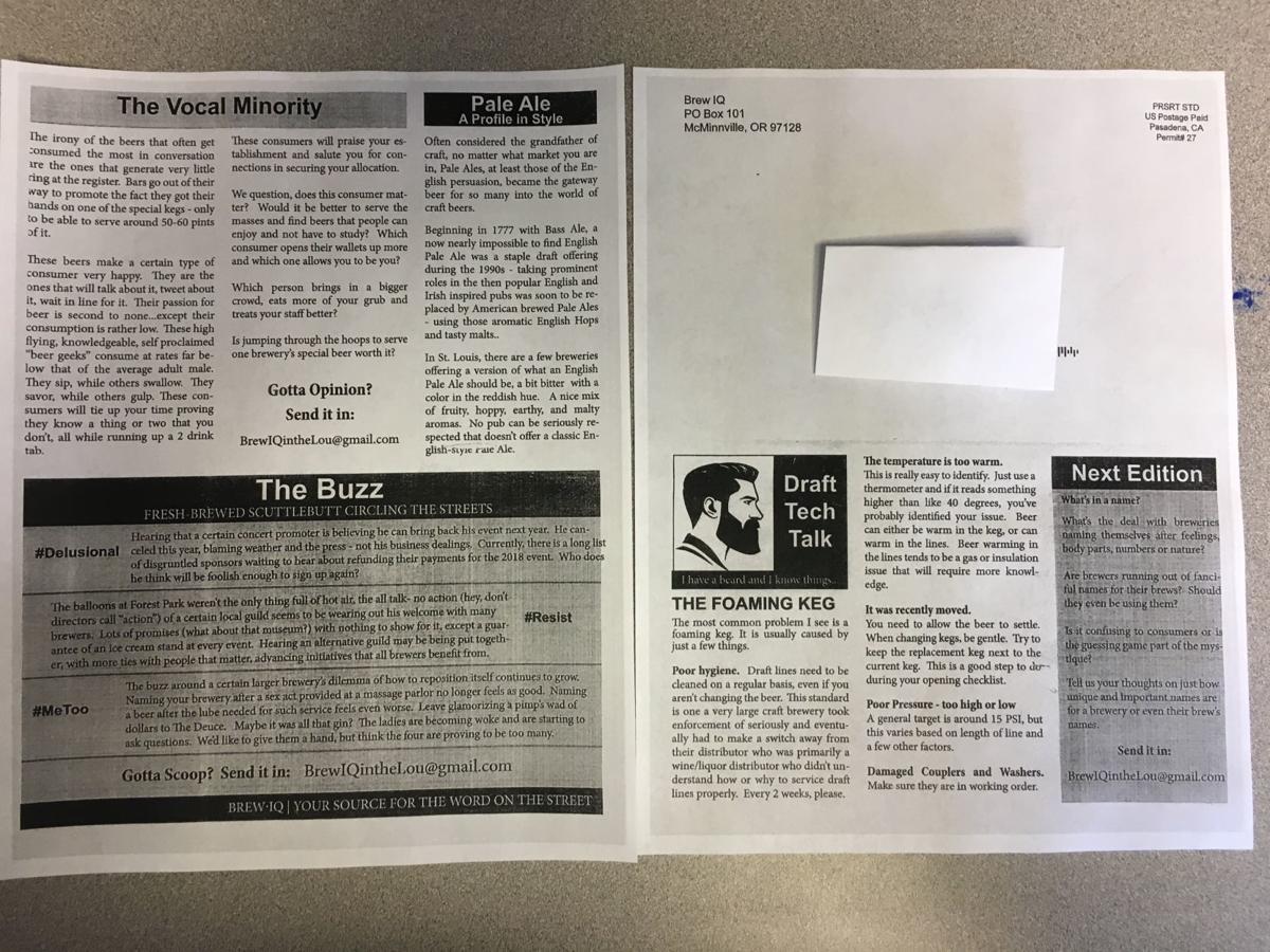 Brew IQ newsletter back
