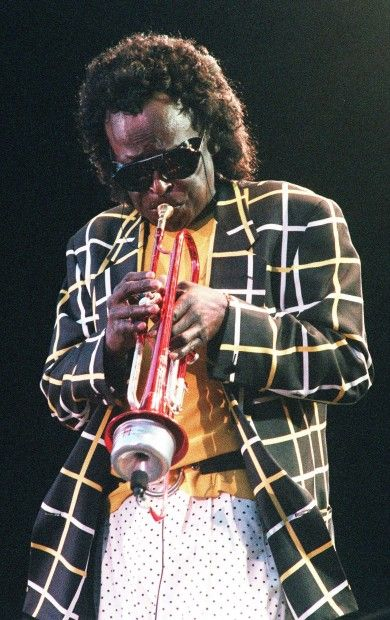 Jazz trumpet player Miles Davis