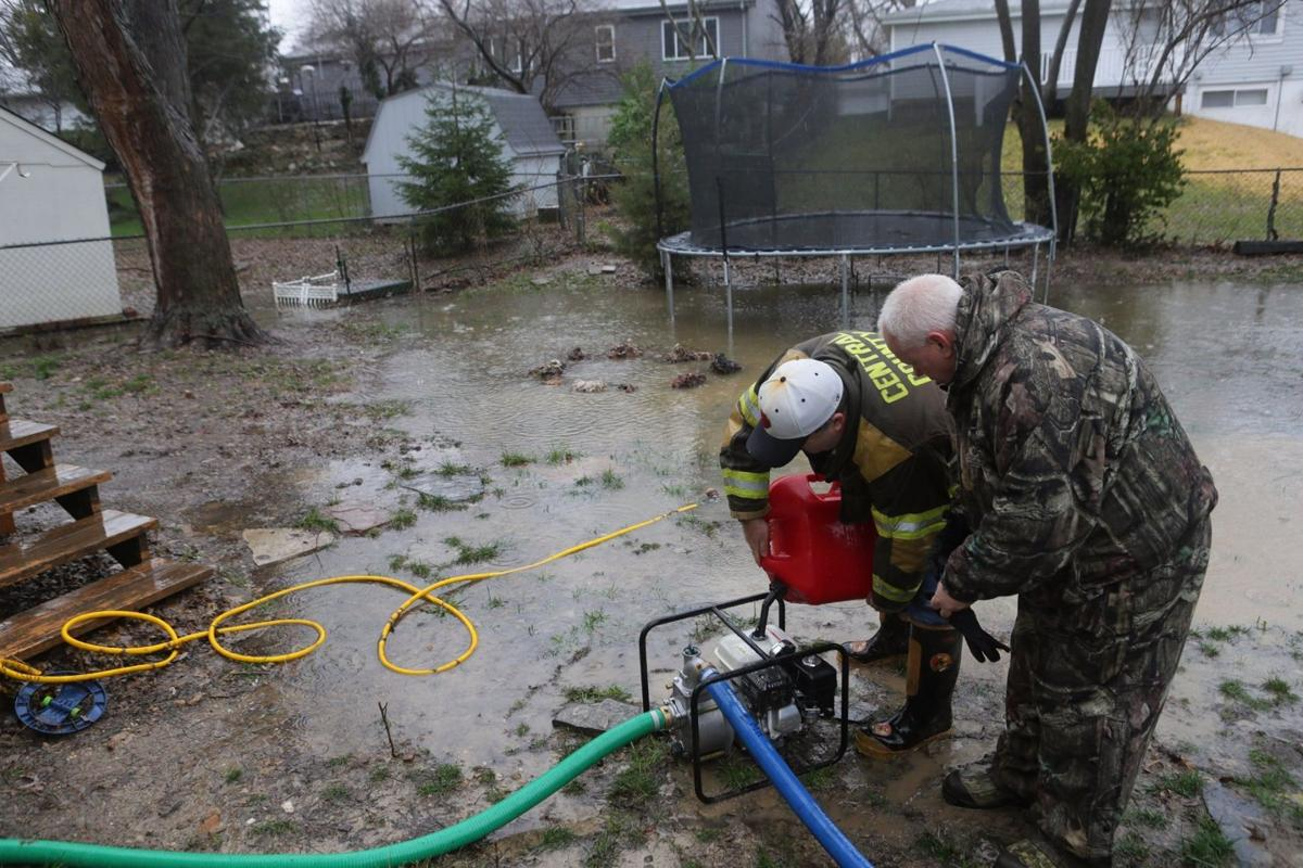 Pumping water from homes in St. Peters