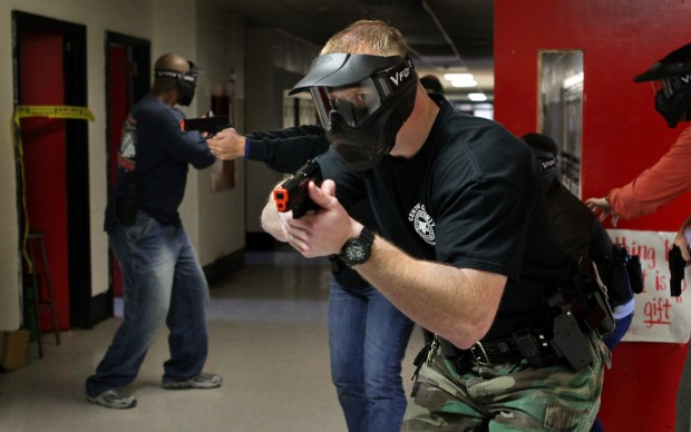 County police train for trouble