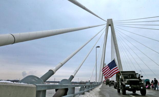 Ribbon cutting for the Stan Musial Veterans Memorial Bridg