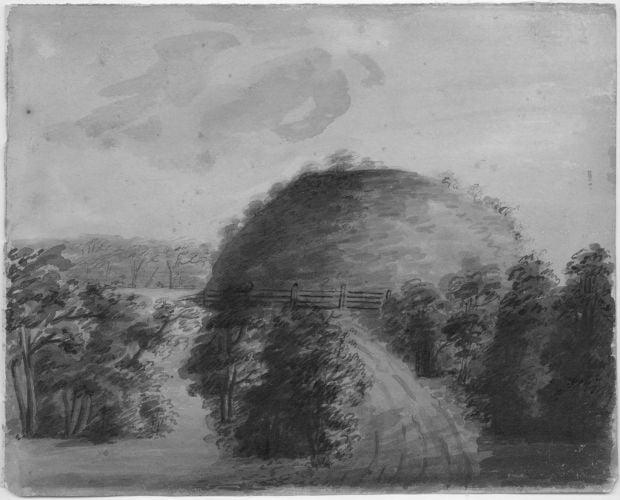 Big Mound watercolor