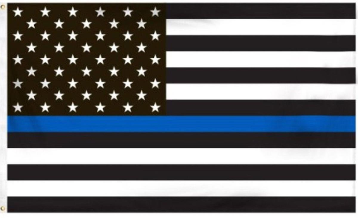 flag lives matter american line through middle controversy louis st running stripe police thin mean usa law enforcement horizontally united