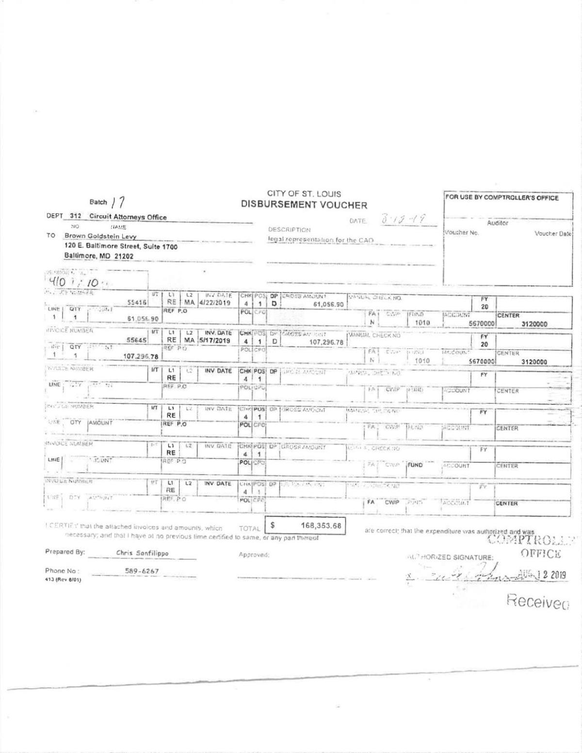 'Corruption case' legal invoice to Kimberly Gardner's office for grand jury investigation