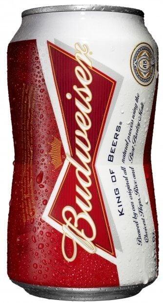 Budweiser bowtie-shaped can