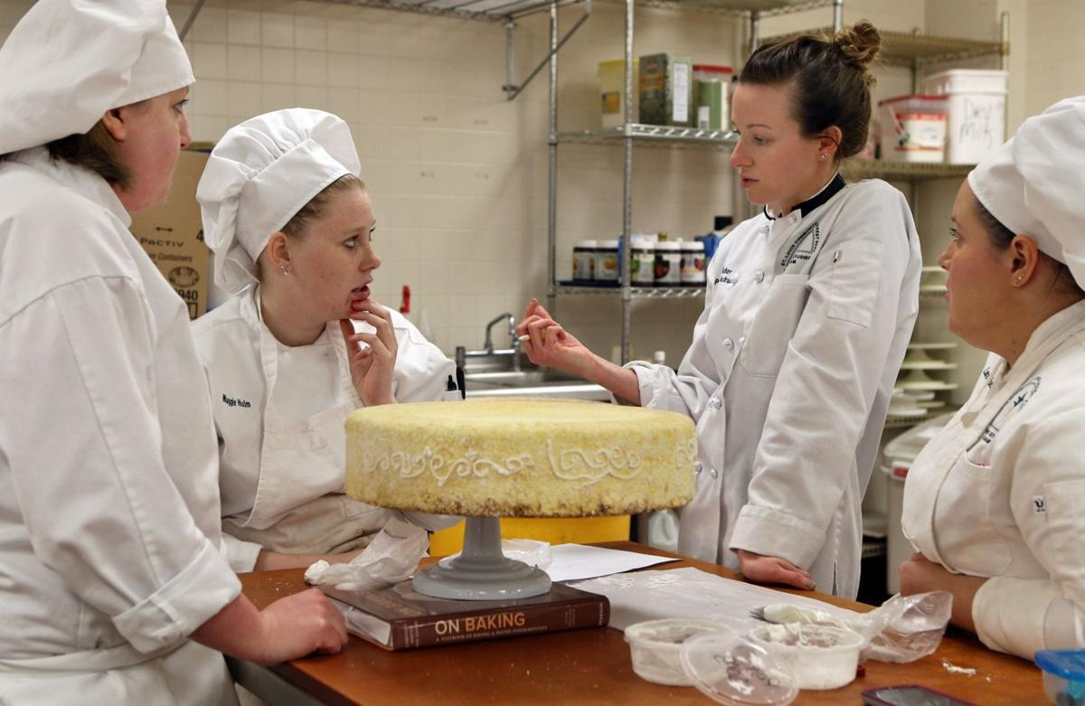 Students learn cake decorating at Forest Park