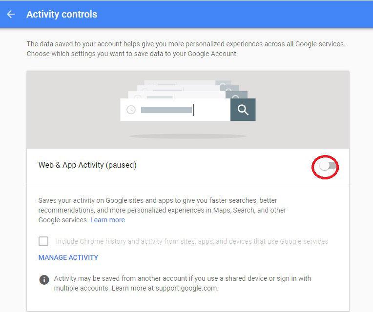 multiple google accounts default