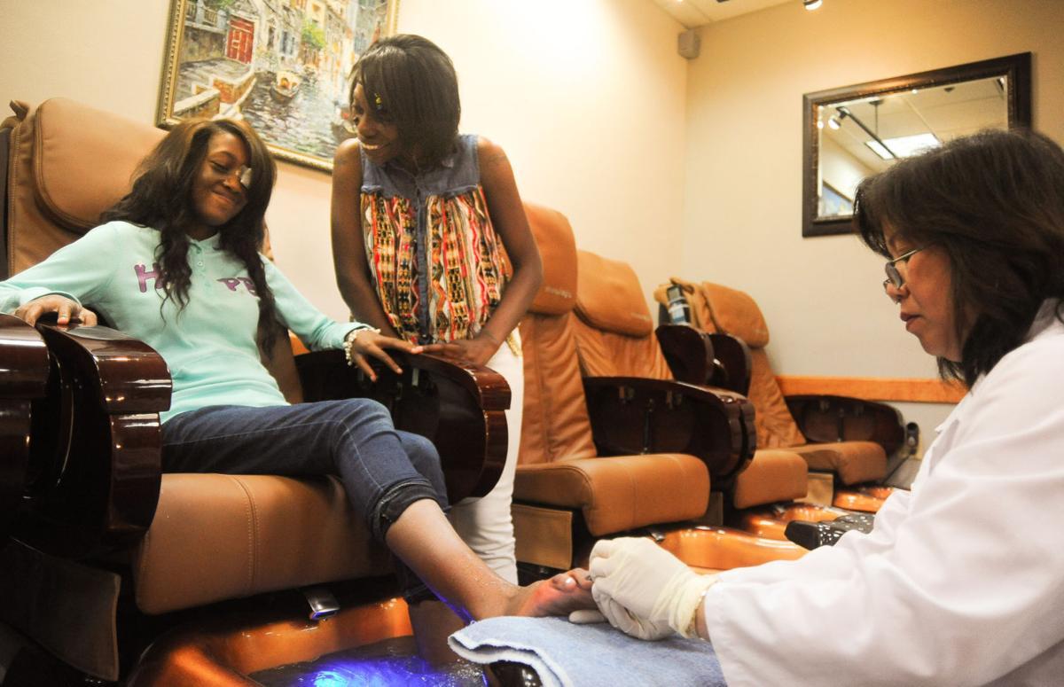 Latasha Williams gets pedicure before homecoming dance