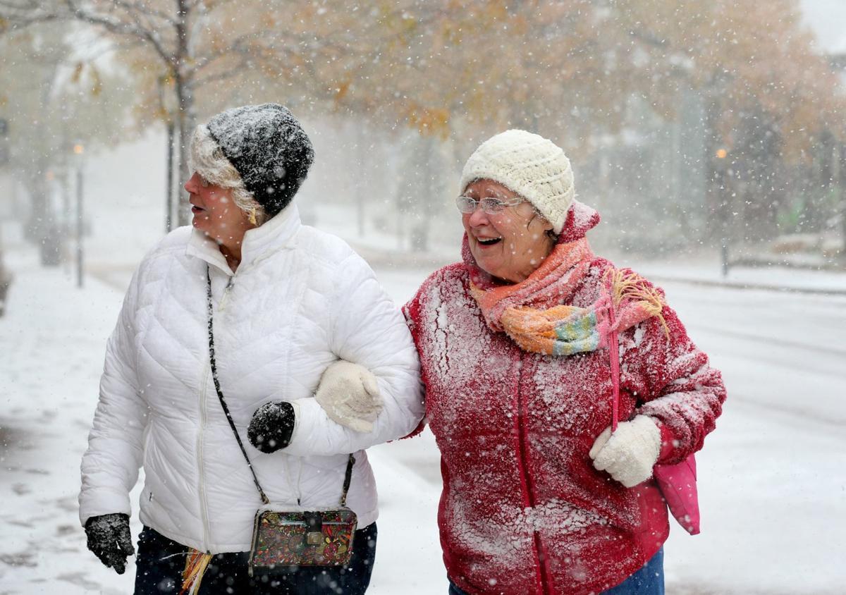 Snow falls in mid-November