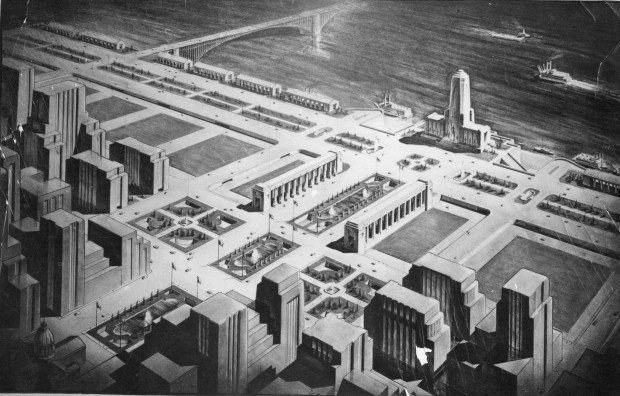 Early plan for Jefferson Memorial