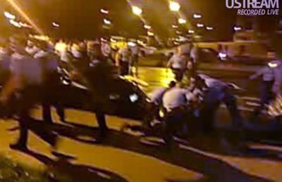 Video frame grab of arrests