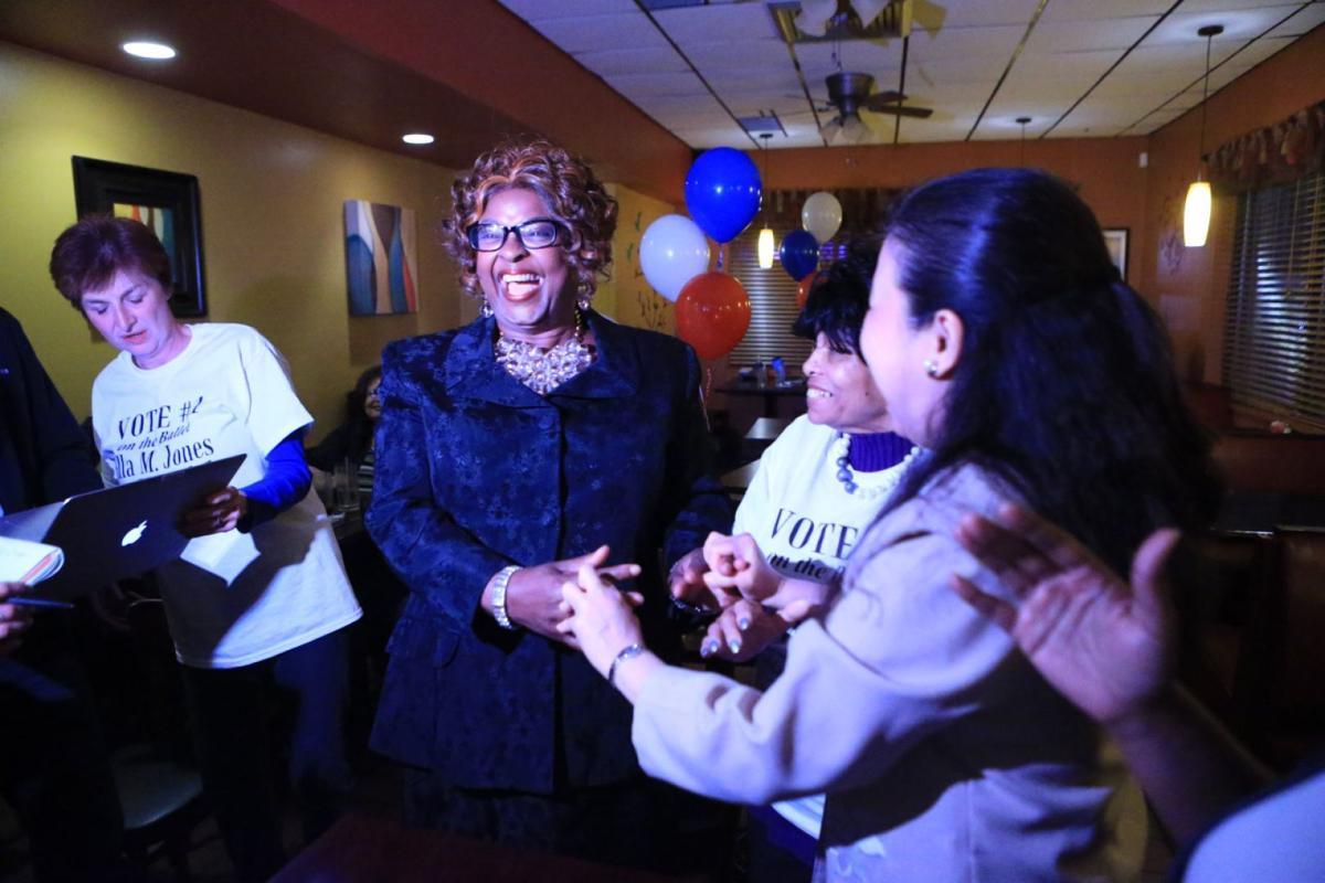 Ferguson candidates watch results