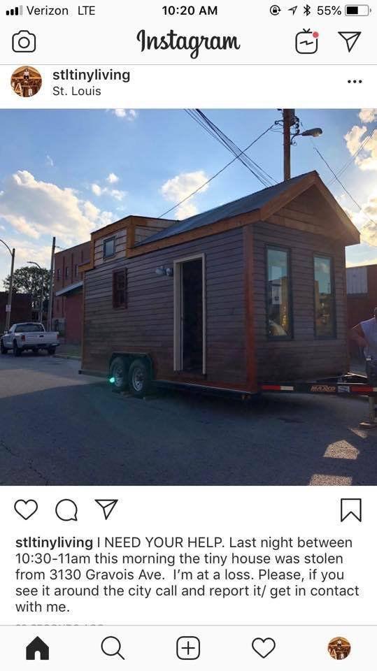 Tiny house stolen