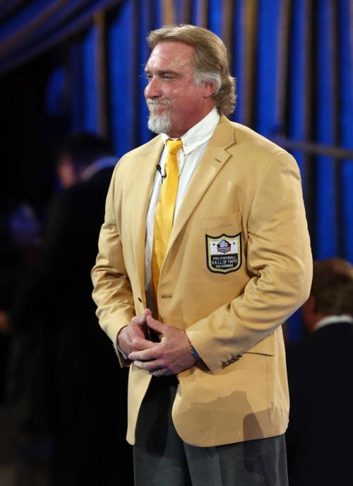 hot sale online 66305 49b66 Pro Football Hall of Fame Gold Jacket Ceremony Kevin Green ...