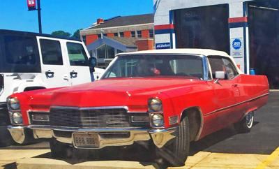 This '68 deVille convertible was spotted by TKCS-STL volunteer and car-spotter-in-training, Eddie, parked at Master Auto Repair in Collinsville, IL.