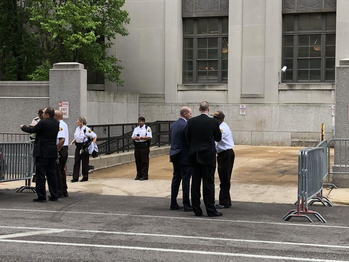 Security inspection of the St. Louis Civil Courts building
