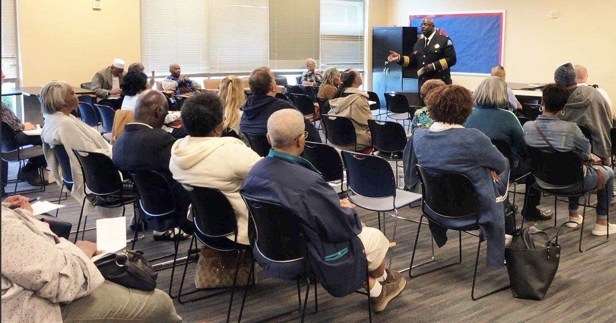 St. Louis Police Chief John Hayden addresses audience at crime prevention summit