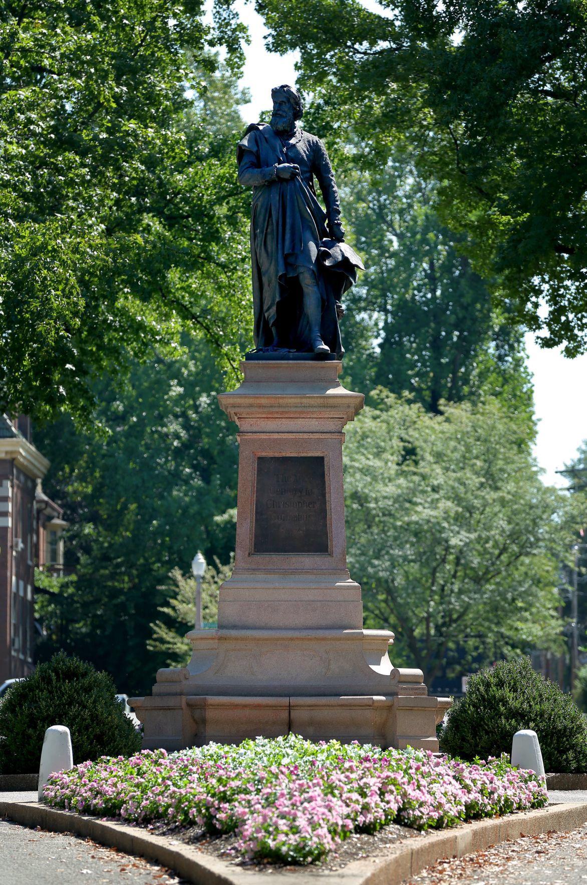 Tower Grove Park Christopher Columbus statue