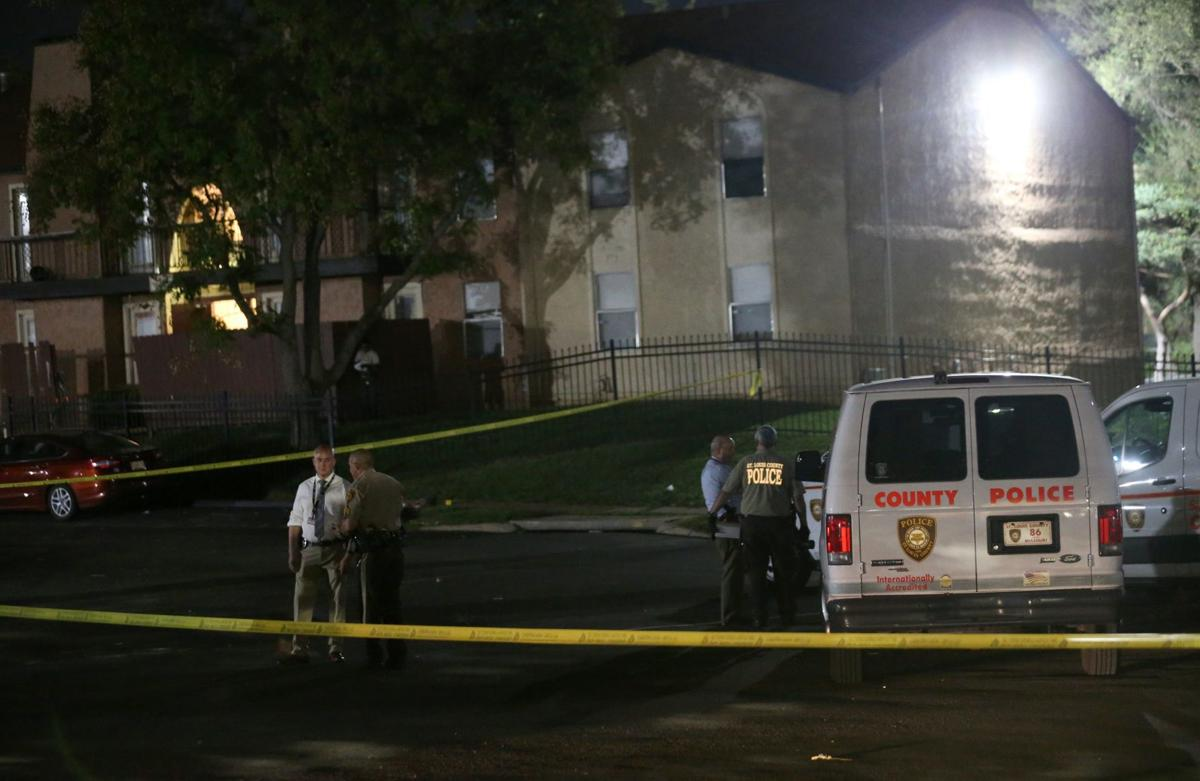 St. Louis County Police at crime scene