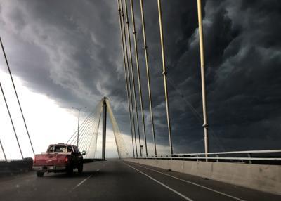 Storm clouds over Alton, Illinois