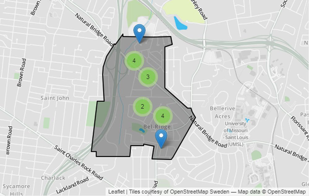 St Louis County Crime Tracker expanded with new maps