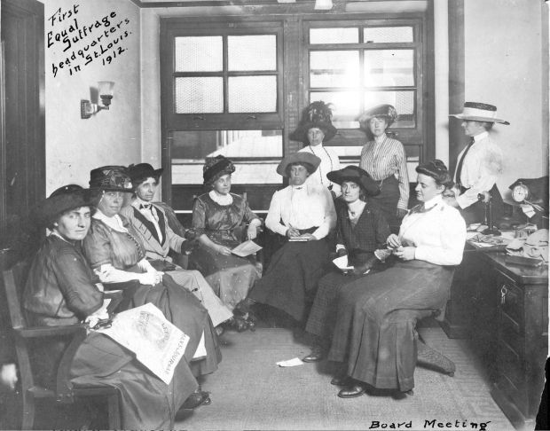 Suffragists in St. Louis