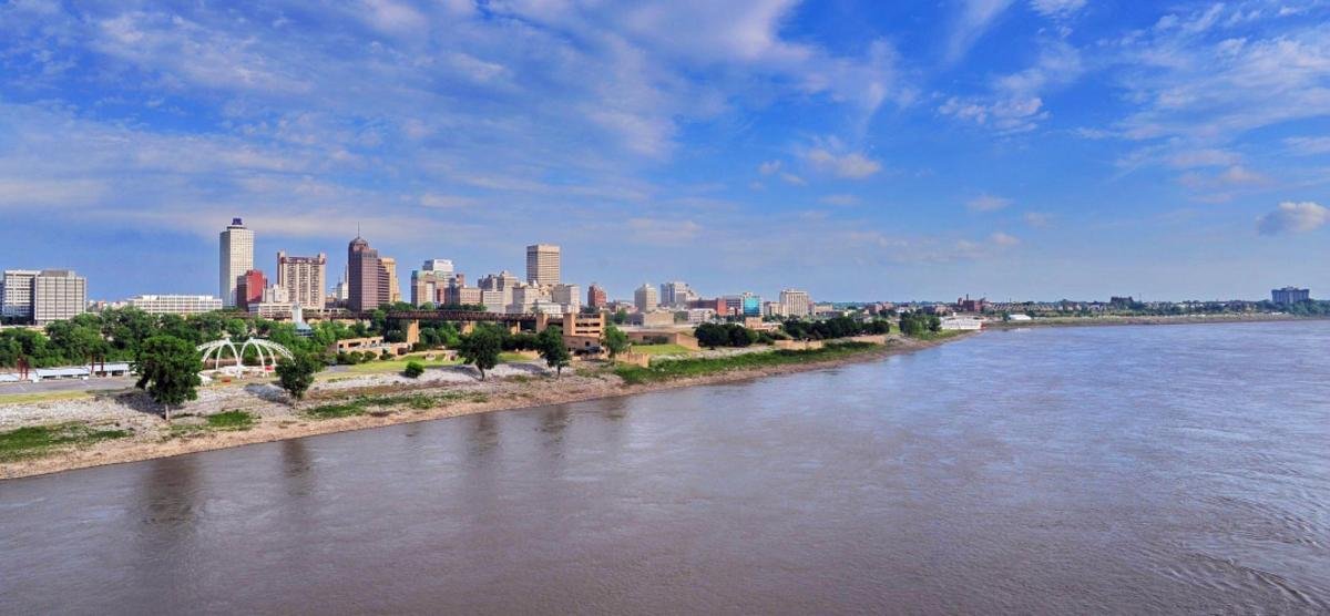Memphis Riverfront and Skyline