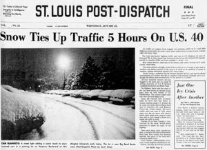 Schnee auf dem Boden für 78 Tage. In welchem Jahr wurde das front-Seite aus?