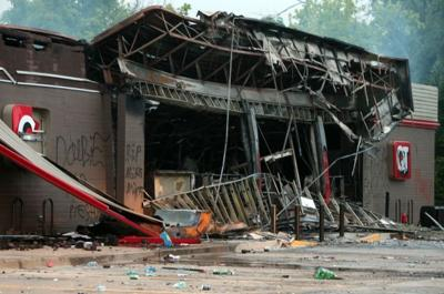 The day after a violent night in Ferguson