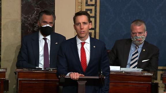 Watch now: Sen. Josh Hawley speaks after Capitol riots