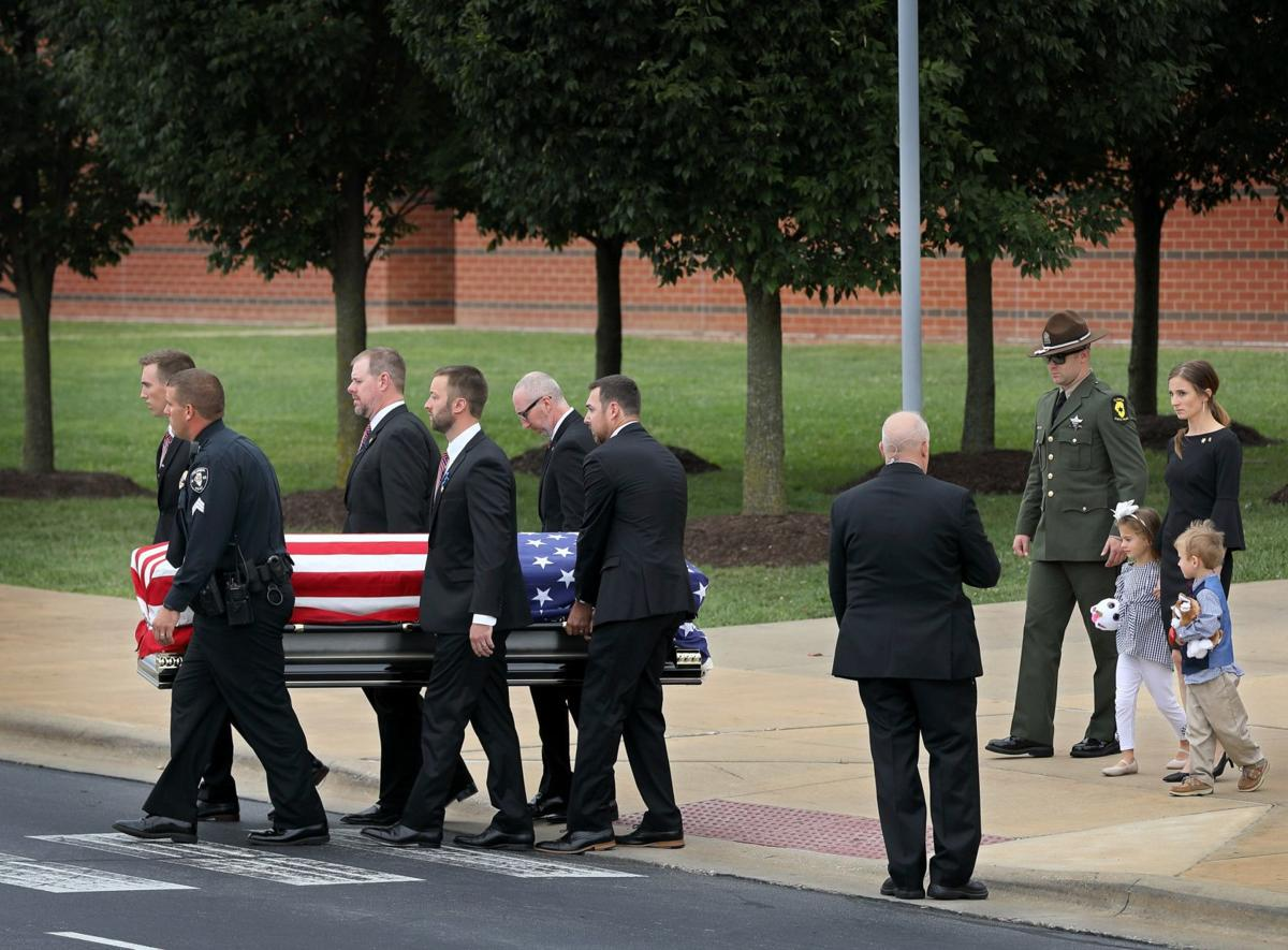 Funeral in Waterloo for Illinois State Trooper Nick Hopkins