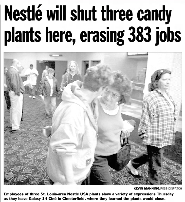 SweeTarts, Tangy Taffy, Pixy Stix and Spree (among other candies) used to be made at Nestlé plants that closed in 2005. The candies were developed by Sunmark, founded in St. Louis in 1952.