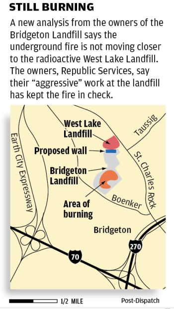 West Lake Landfill map