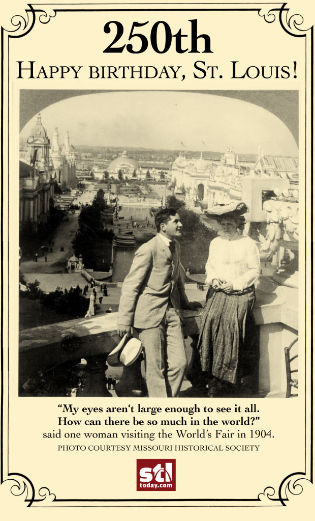 birthday card 1904 world 39 s fair. Black Bedroom Furniture Sets. Home Design Ideas