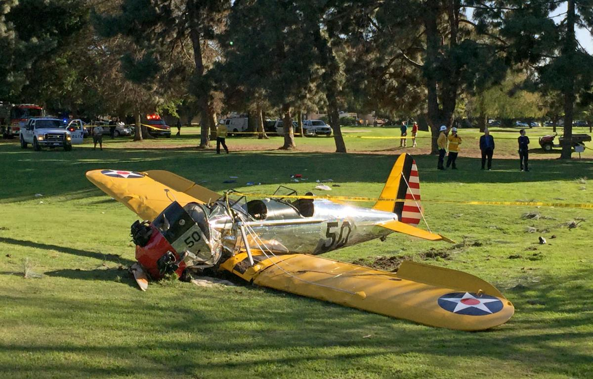 AP source: Harrison Ford crash-lands small plane in LA