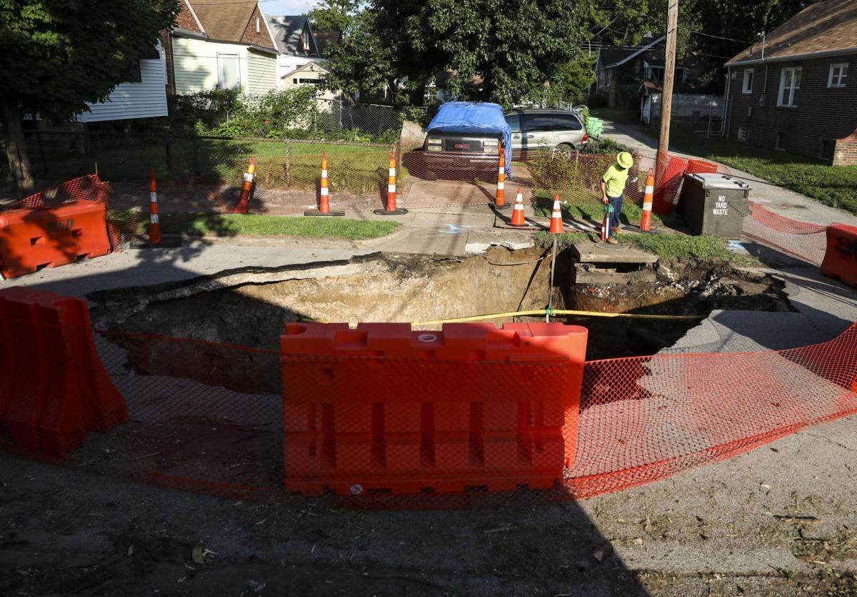 Sink hole opens in North City