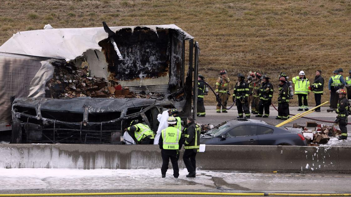 One Dead Two Injured In Fiery Crash On I 270 In Town And