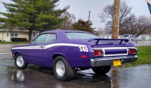 Spotted: Red-hot Plymouth Duster sporting Kahoks Purple!.