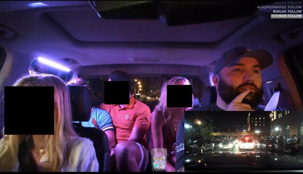 St  Louis Uber driver put video of hundreds of passengers