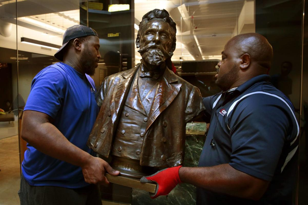 Same perch but a new home for Joseph Pulitzer and the St. Louis Post-Dispatch