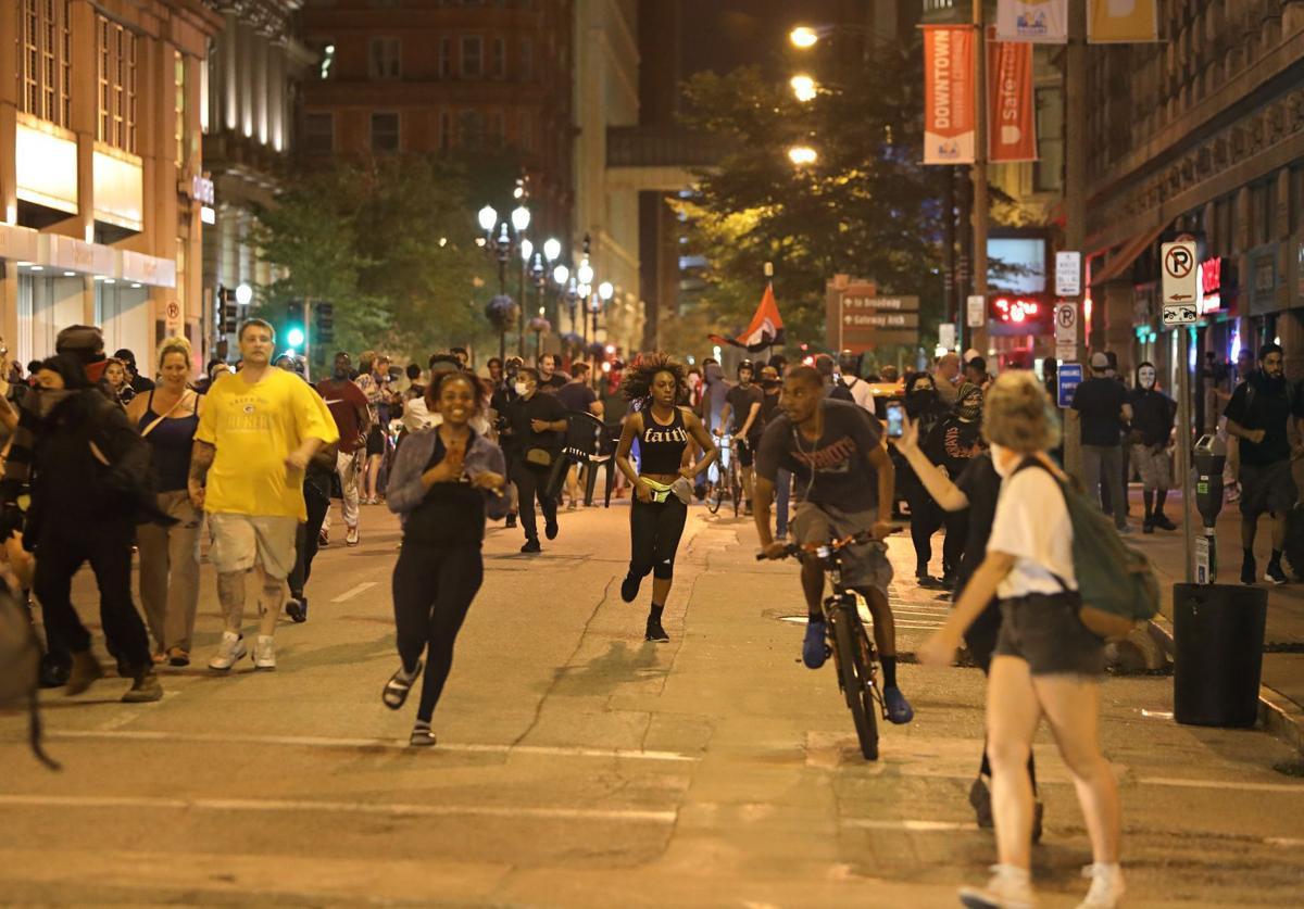Downtown St. Louis protest turns destructive