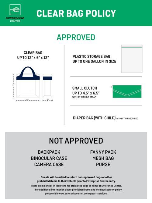 St Louis Blues And Enterprise Center Announce Clear Bag Policy Entertainment Stltoday Com