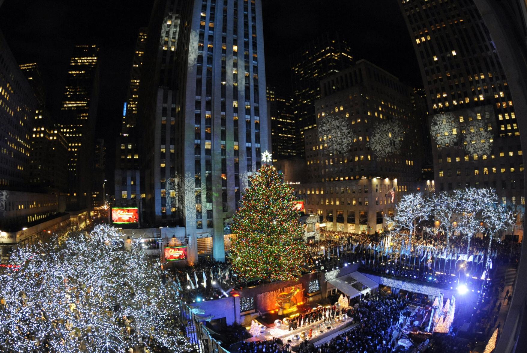 APTOPIX Rockefeller Center Tree & Nov. 30: Rockefeller Center Christmas Tree Lighting | | stltoday.com azcodes.com