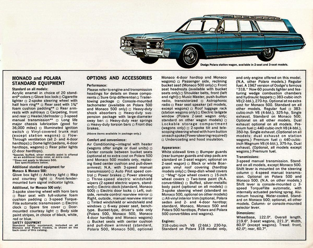 1967 Dodge Monaco and Polara – taillights that got noticed